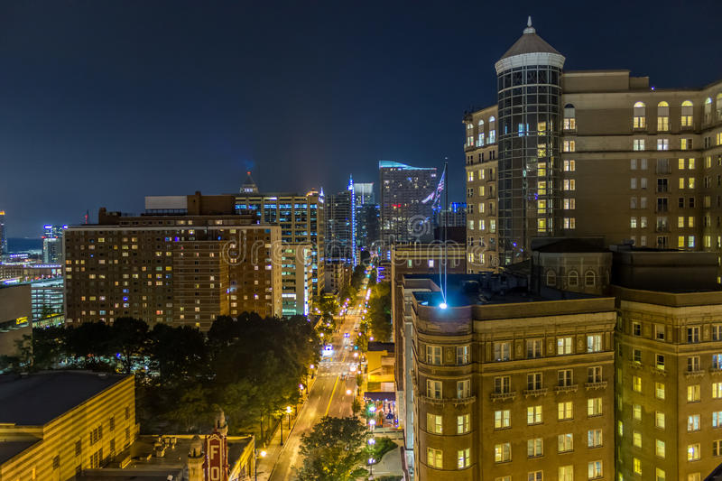 Downtown Atlanta, GA rooftop view stock images