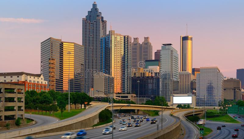 Downtown Atlanta Skyline stock image