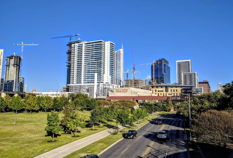 Downtown Austin. Modern buildings in downtown Austin Texas royalty free stock photography