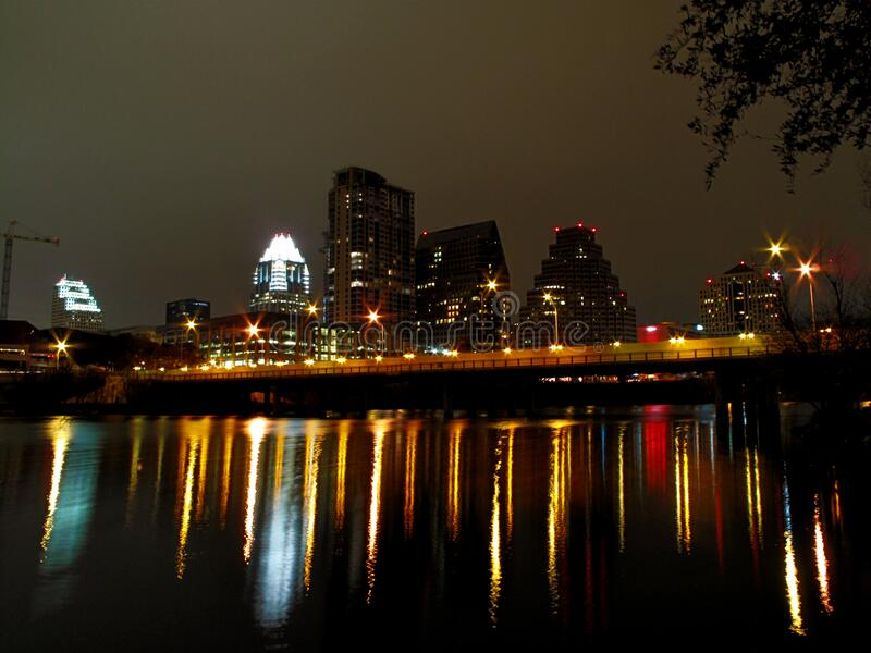 Downtown Austin/Reflection stock photography