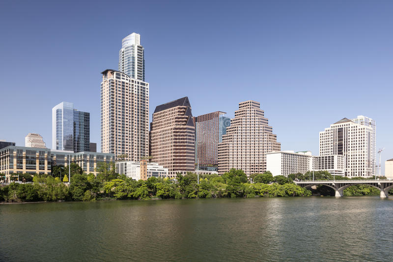 Downtown Austin Skyline, Texas stock photography