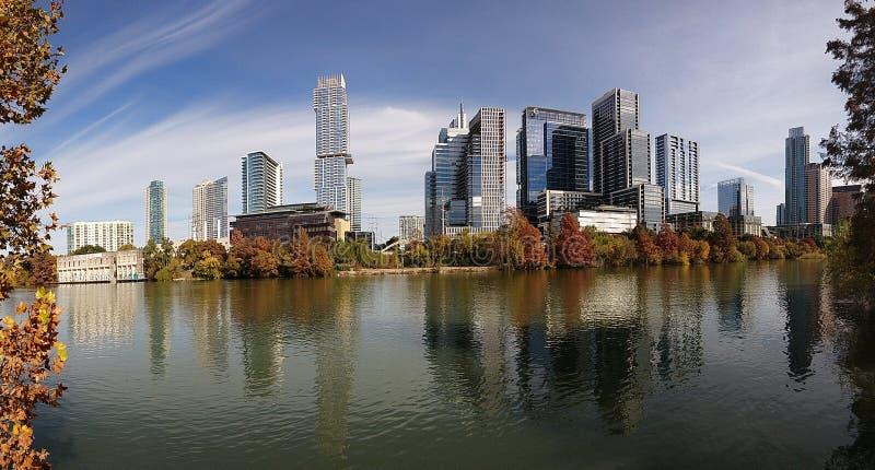 Downtown Austin Texas. On a beautiful day stock photos