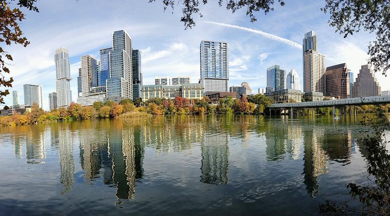 Downtown Austin Texas. On a beautiful day royalty free stock photo