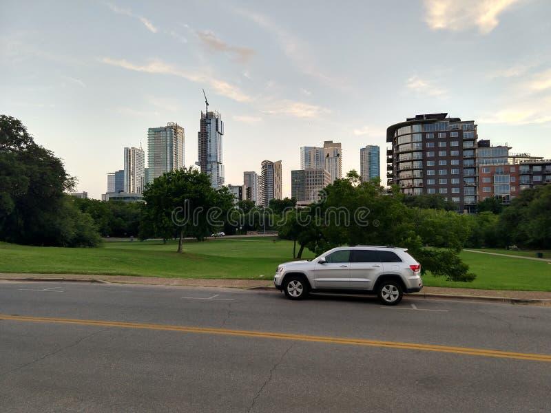 Downtown Austin Texas. Modern buildings in downtown Austin Texas stock image