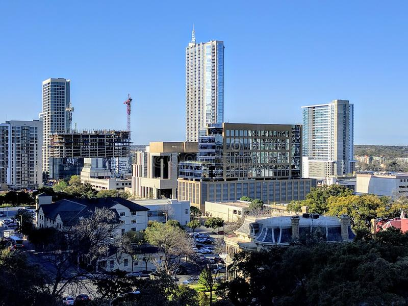 Downtown Austin Texas. On a nice sunny day royalty free stock photography
