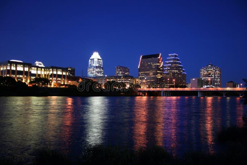 Downtown Austin, Texas at Night royalty free stock photos