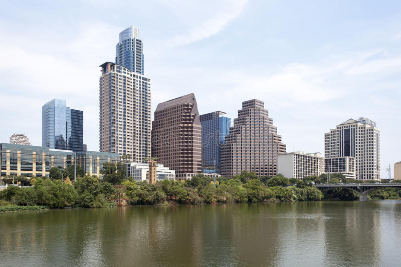 Downtown Austin, Texas royalty free stock photos