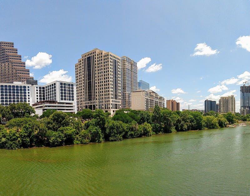 Downtown Austin TX. Lady bird lake in downtown Austin Texas royalty free stock images