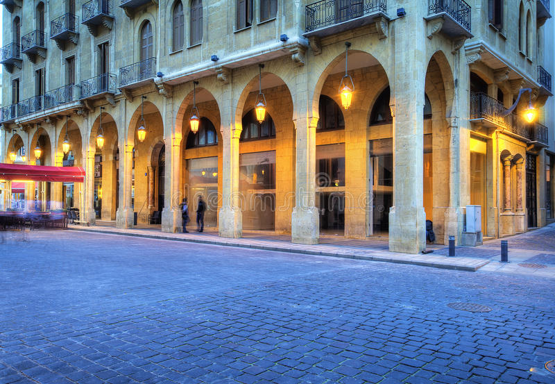 Downtown Beirut ,lebanon. urban architecture royalty free stock photo