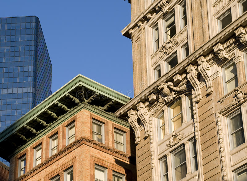 Downtown Boston. With Various Types of Architecture in the Fall royalty free stock photo