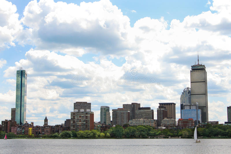 Downtown Boston and the Charles River royalty free stock photos