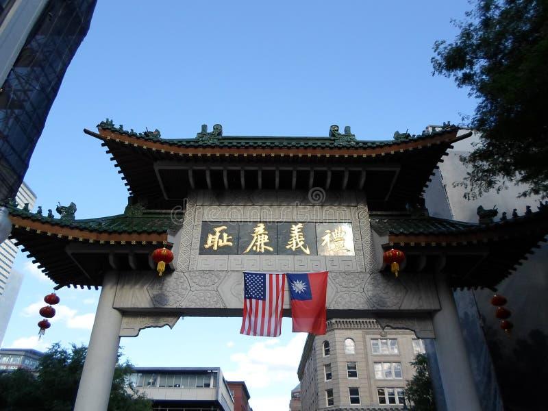 Downtown Boston's Chinatown, Boston, Massachusetts, USA lizenzfreie stockbilder