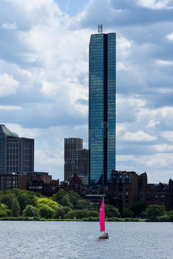 Downtown Boston Skyline. The downtown Boston Skyline on a summer day stock photo