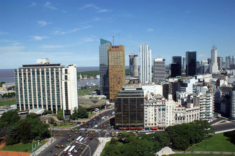 Downtown Buenos Aires royalty free stock image