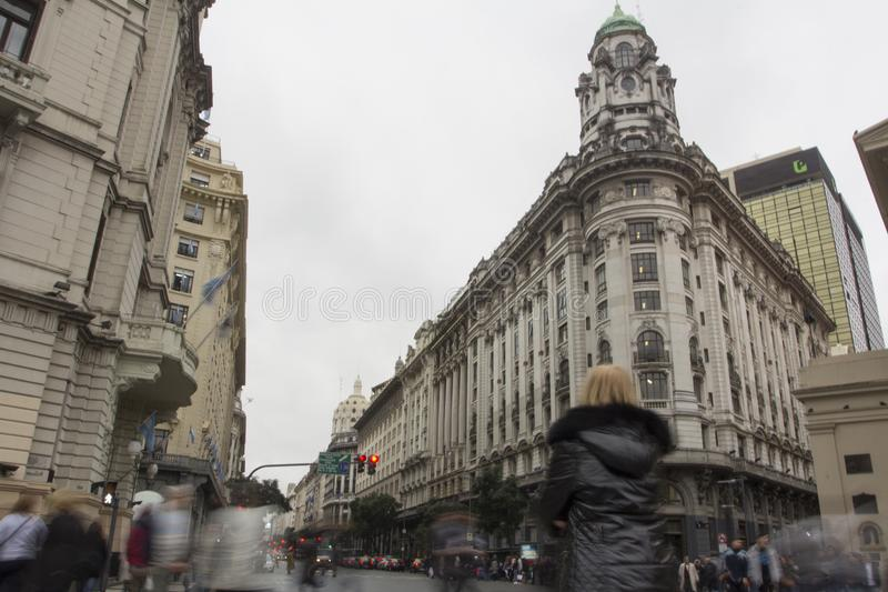 Downtown Buenos Aires historic buildings Buenos Aires Argentina Latin America South America INAP Building NICE royalty free stock photography