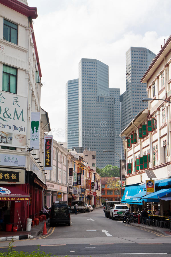 Downtown Bugis royalty free stock photography