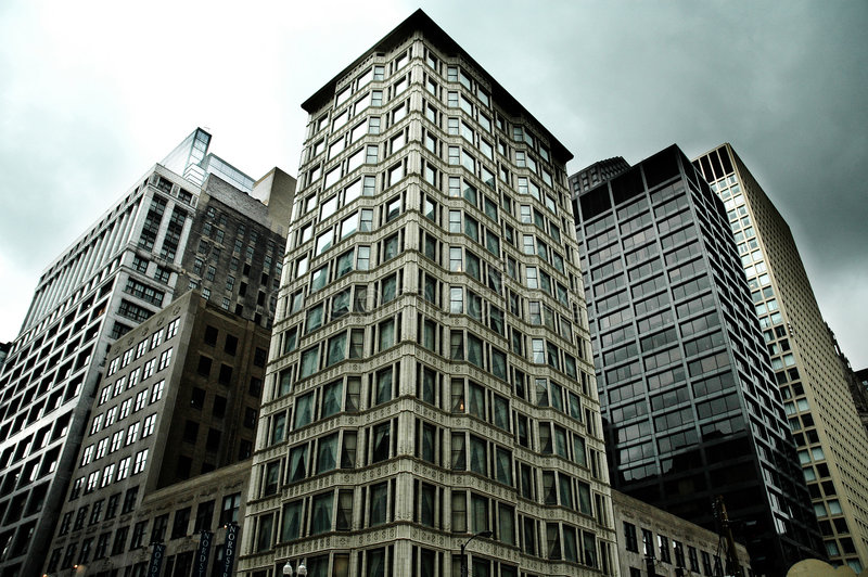 Downtown Buildings stock photography
