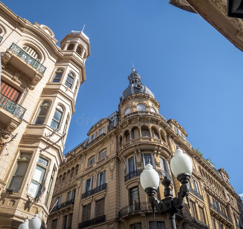 Downtown Buildings of Cordoba Street - Rosario, Santa Fe, Argentina stock photography