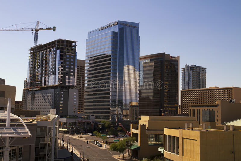 Downtown Buildings of Phoenix Arizona stock photos