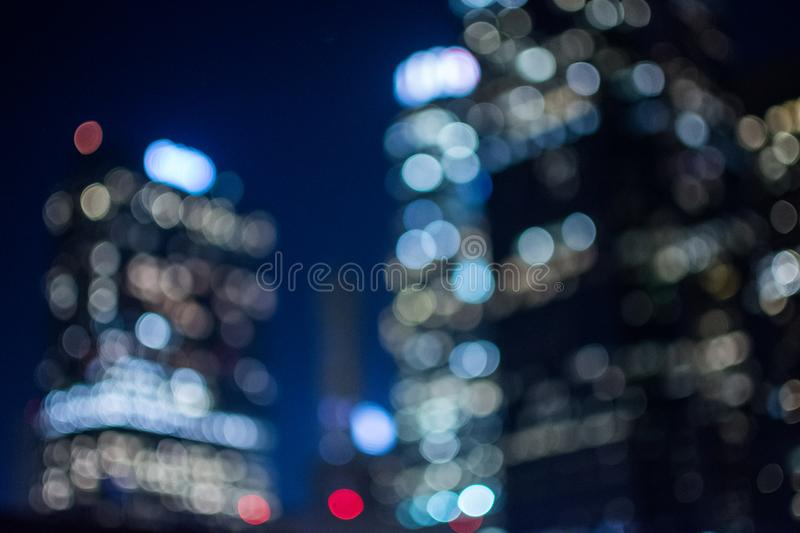 Downtown Buildings set in an bokeh blurred setting stock images