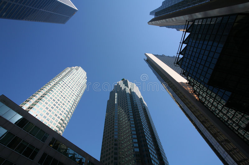 Downtown business district royalty free stock photos