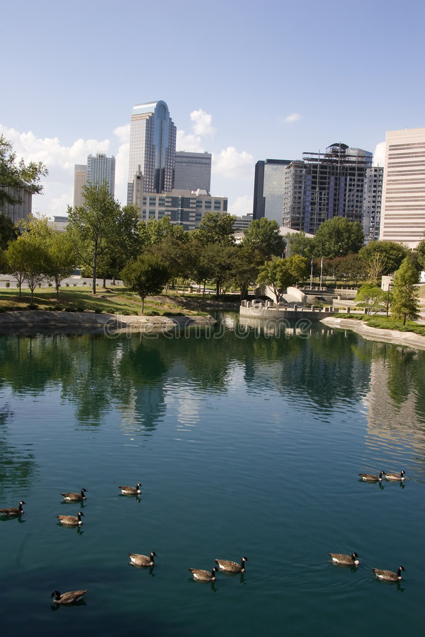 Downtown Charlotte royalty free stock images
