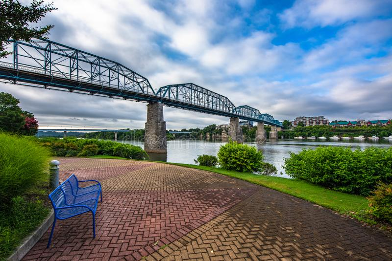 Downtown Chattanooga Tennessee TN Coolidge Park stock photo