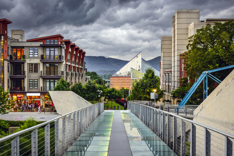 Downtown Chattanooga stock photos