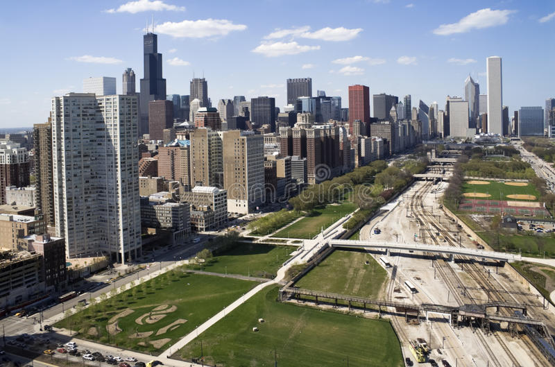 Downtown of Chicago royalty free stock photo