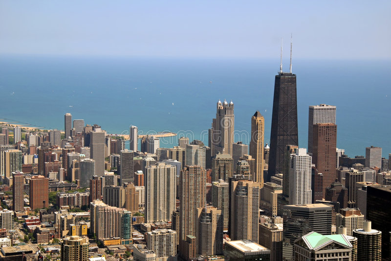 Downtown Chicago royalty free stock photos