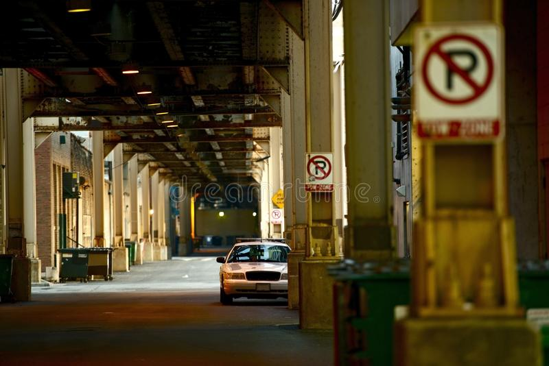 Downtown Chicago Alley stock photo