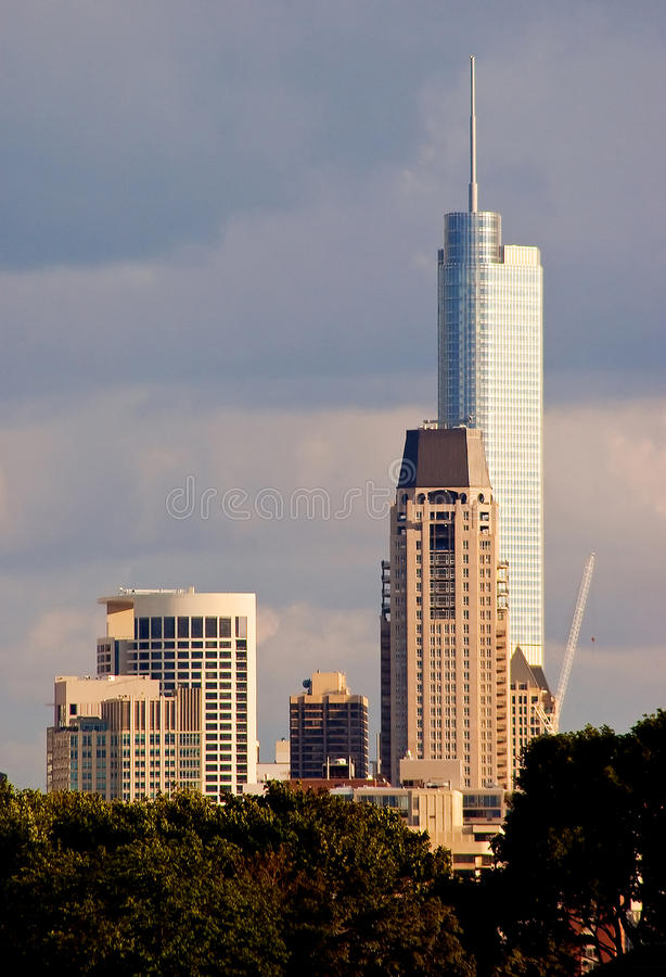 Download Downtown Chicago skyline stock photo. Image of tall, scenery - 10631486