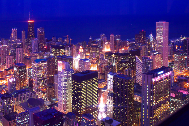 Downtown Chicago Skylines Stock Photo