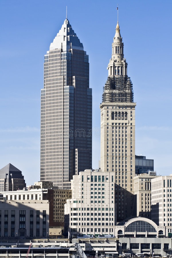 Downtown Cleveland royalty free stock photo