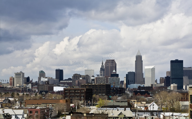 Downtown Cleveland - another angle stock images