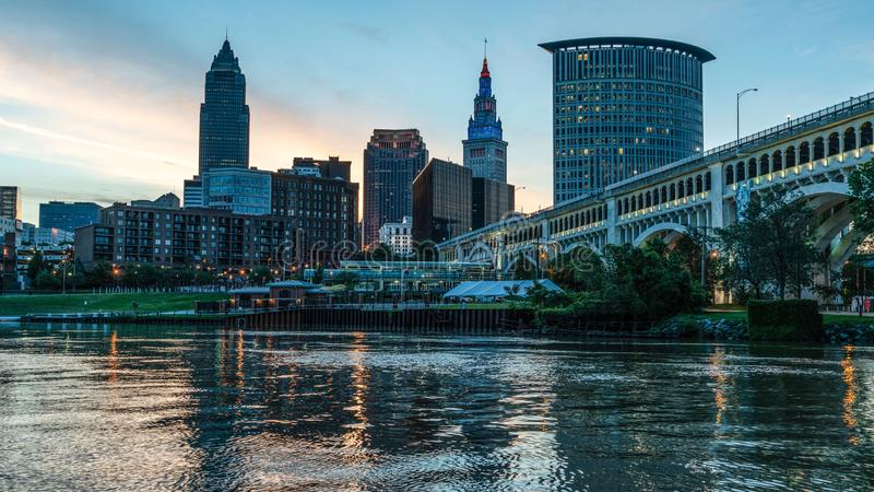 Downtown Cleveland Ohio stock image
