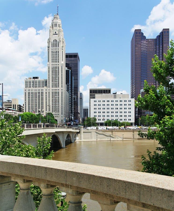 Downtown Columbus stock photo