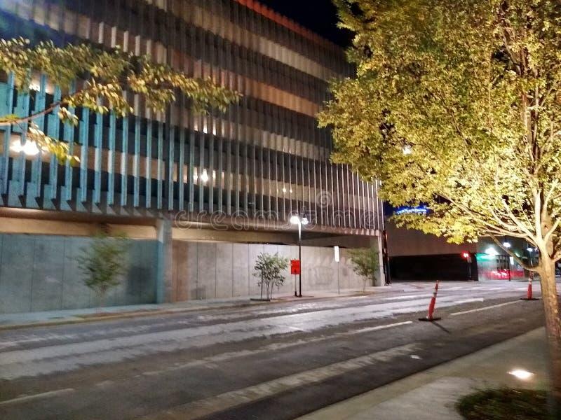 Downtown Dallas Texas at Night stock image