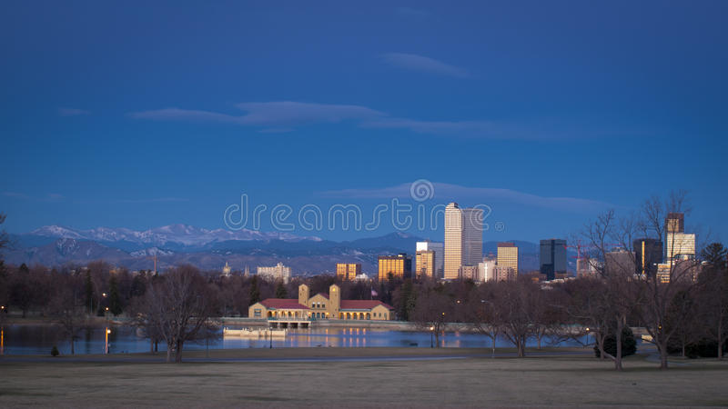 Download Downtown Denver stock photo. Image of architecture, peak - 23876452
