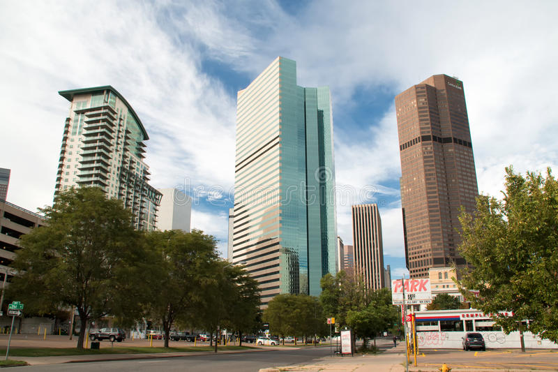 Downtown Denver Cityscape royalty free stock image