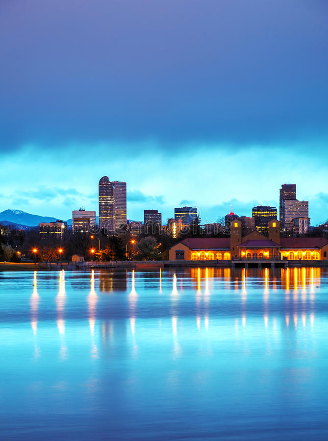 Downtown Denver, Colorado at the morning. As seen from City Park royalty free stock images