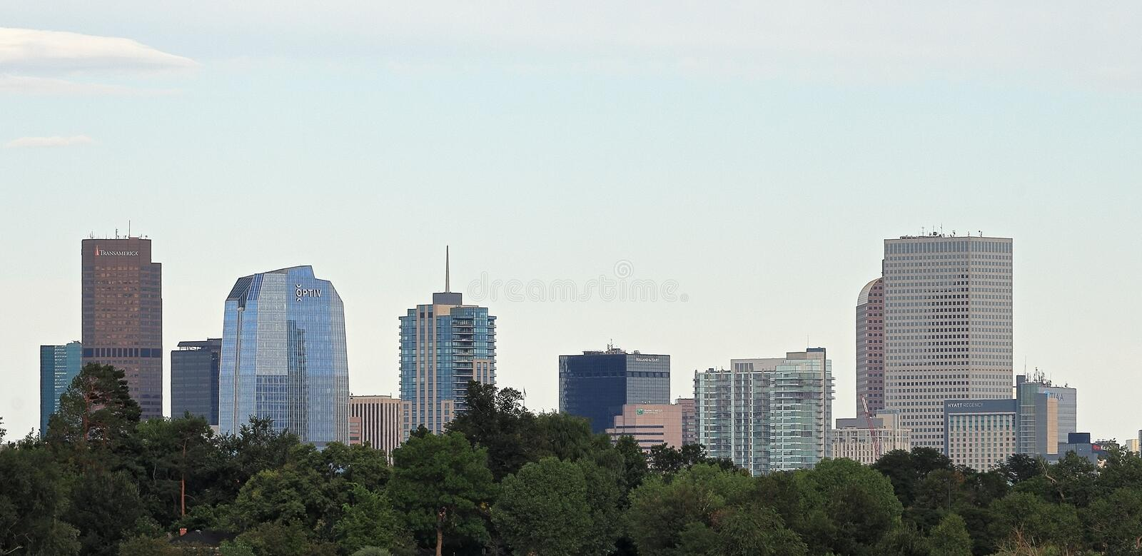 Downtown Denver, Colorado, from Sloan Lake stock photography
