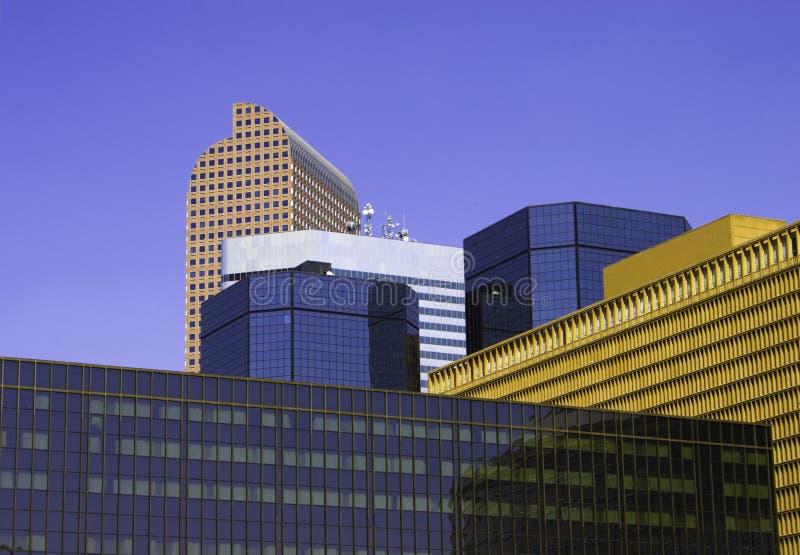 Downtown Denver Skyscape royalty free stock photos