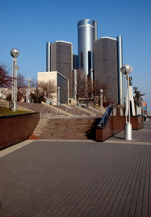 Downtown Detroit stock photography