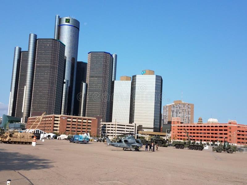 Downtown detroit stock images
