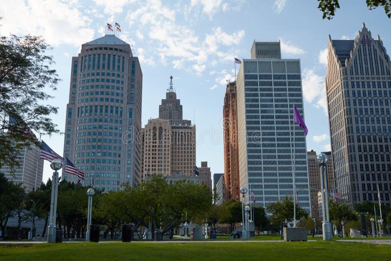 Downtown Detroit stock photo