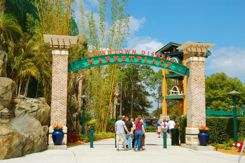 Downtown Disney Marketplace stock photography