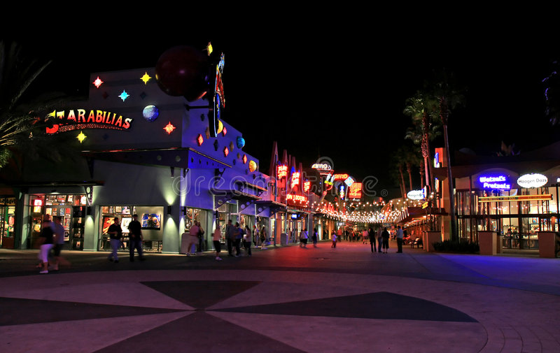 Downtown Disney in Orlando. Florida at night royalty free stock photography