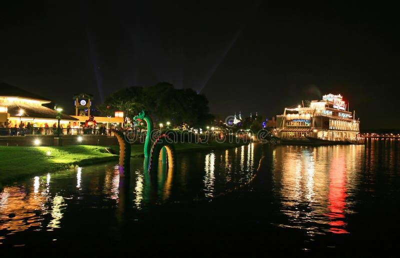 Downtown Disney in Orlando Florida. At night royalty free stock image