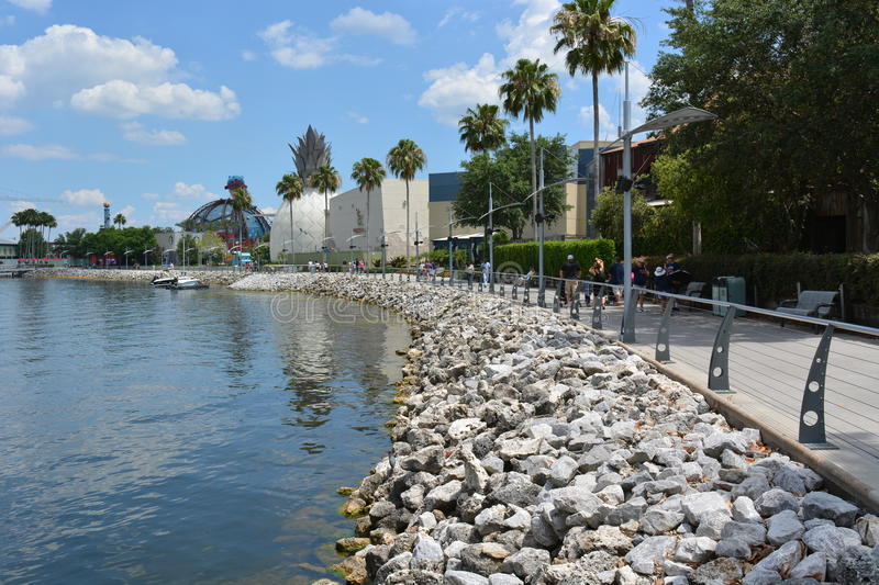 Downtown Disney in Orlando Florida. In sunny day. Photo taken on May 9th, 2015 stock photography